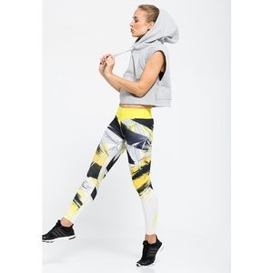Adidas ASIA vibrant multi color bamboo leggings L